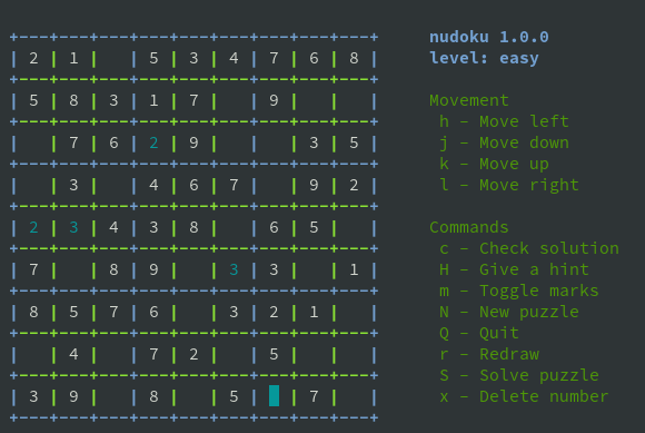 Play Nudoku game using Banana Pi